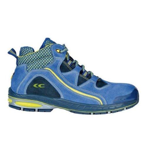 Cofra–Scarpe alte di sicurezza Bowled S1P 19180–002New Jogging blu, Blu, 19180-002