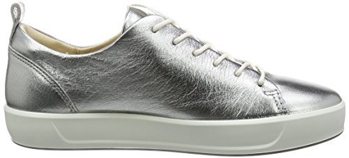 Ecco Soft 8 Ladies, Baskets Basses Femme Silber (1708ALUSILVER)