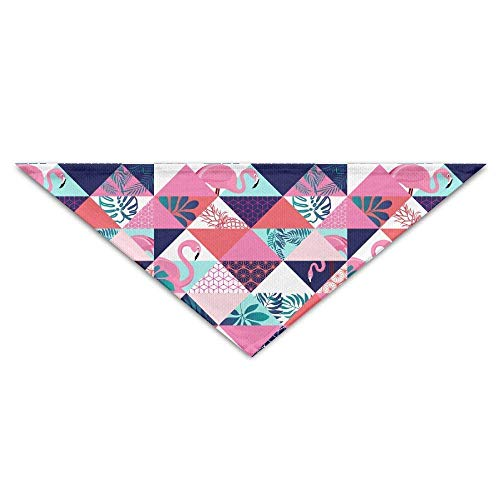 Gxdchfj Pink Flamingos Tropical Palm Leaves (2) Triangle Pet Scarf Dog Bandana Pet Collars Dog Cat - Birthday