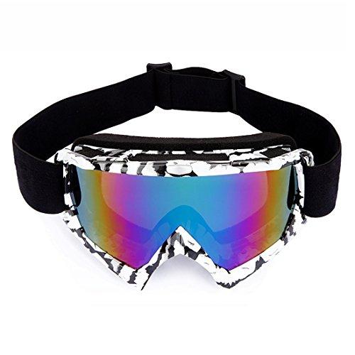 Motocrossbrille Skibrille,KENOVE Hochwertige Winddicht Staubdicht Skibrille Anti Fog UV Schutzbrille mit Schaumstoffpolsterung für Outdoor Aktivitäten CS Skifahren Radfahren Snowboard Wandern Augenschutz