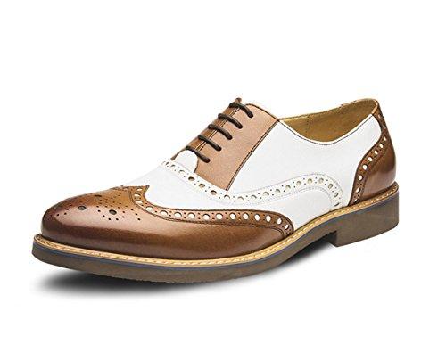 WZG Die neuen Männer des britischen Stil Schuhe Bullock geschnitzt Lederschuhe Lederschuhe Schuhe Kind lässige Mode Schuhe spitz Brown