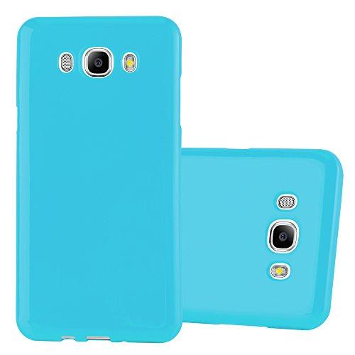 Preisvergleich Produktbild Cadorabo Hülle für Samsung Galaxy J7 2016 (6) - Hülle in Jelly HELL BLAU – Handyhülle aus TPU Silikon im Jelly Design - Silikonhülle Schutzhülle Ultra Slim Soft Back Cover Case Bumper