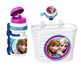 Disney 3tlg Frozen die Eiskönigin Kinder Fahrrad Lenker Korb + Sport Trinkflasche + Klingel Glocke Set