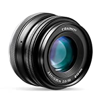 CRAPHY Objetivo 50mm para Sony Cámaras Digitales sin Espejo Sony E-Mount...