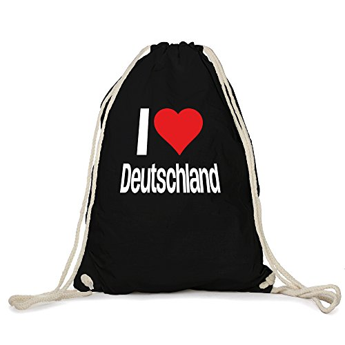 i love Deutschland Motiv auf Gymbag, Turnbeutel, Sportbeutel, stylisches Modeaccessoire, Tasche, Unisex...