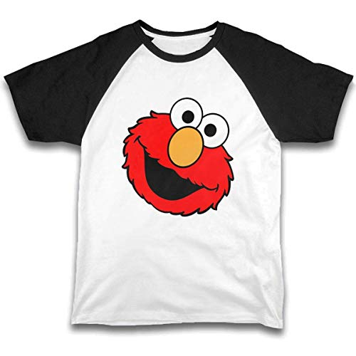 Ksiwre Jugendliche Kurzarm Girls Boys Printed Short-Sleeve T-Shirt Elmo's World Running
