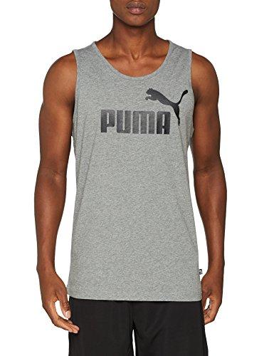 Puma ESS Camiseta de Tirantes, Hombre, Medium Gray Heather, L