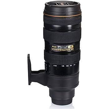"""Isolierkanne mit Kaffee Becher - Schwarz """"Digitalkamera"""" Design 0,5l - Gadget Thermo Flasche Reise & Zuhause - Grinscard"""