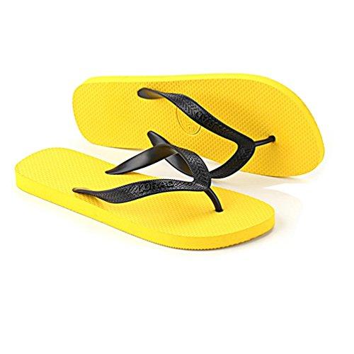 Baymate Unisex Adulto Infradito Casuale Sandali Spiaggia Pantofole Coppie Flip Flops Uomo Giallo