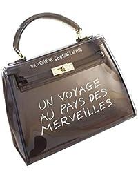 da4cd1b567 Sac Bandoulière Femmes Sac à Main de Gelée Transparent Mignon Populaire  Petit Sac Carré Couleur Bonbon