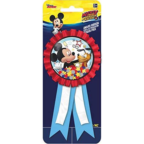 Amscan DisneyMickey Mouse Birthday Party Award Ribbon Accessory, 6\