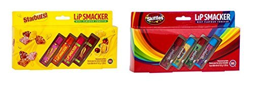 Lip Smackers Skittles & Starburst Cadeau Ensemble 8 Baume Meilleur Saveurs Pour Toujours Protection
