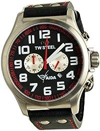 TW Steel Herren Armbanduhr Pilot AIDA Collection Chronograph schwarz Datum TW-882 UVP 259EUR