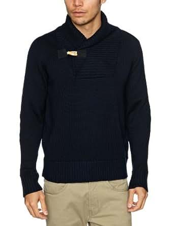 Alan Paine Rossendale Shawl Collar Men's Jumper Navy C40IN