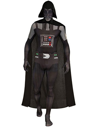 Darth Vader Second Skin Suit StarWars Kostüm schwarz grau L (Darth Vader Second Skin Star Wars Kostüme)
