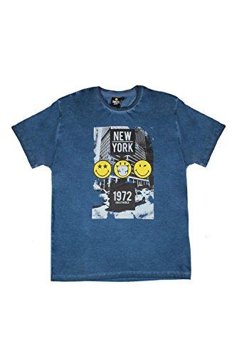 Smiley Herren Schlafanzug Blau