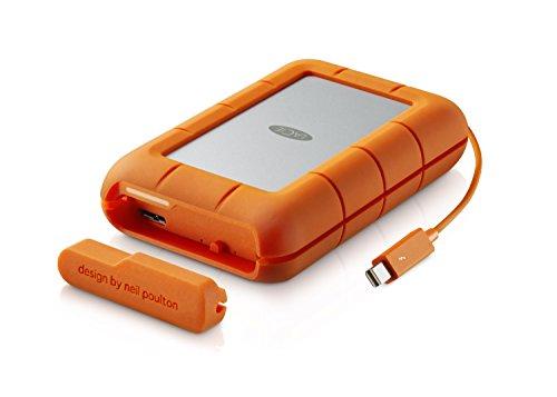 LaCie Rugged Raid - 4 TB (2 x 2 TB),  externe tragbare Festplatte; Raid 0 & Raid 1, USB 3.0. Thunderbolt - LAC9000601