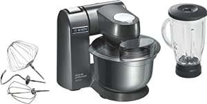 Bosch MUM86A1 Robot Culinaire 1600 W max Bol Inox 5,4 L 1 Crochet Pétrisseur -1 Fouet pour Battre Anthracite
