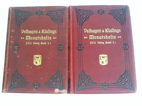 Monatshefte. XVIII. Jahrgang 1903/1904, Band II.1 und II.2. Zwei Bände