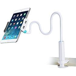 Yica Support pour téléphone portable et tablette, universelle Rotation 360° universelle Long Bras Flexible et Réglable Gooseneck Support pour iPhone iPad and most mobile phones tablets 4-10,6 inch