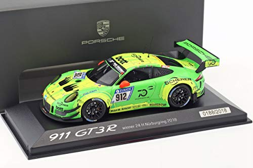 Minichamps Porsche 911 (991) GT3 R #912 Winner 24h Nürburgring 2018 Manthey Racing 1:43