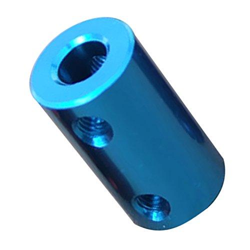 MagiDeal Aluminium Schrittmotor Flexible Wellenkupplung Coupler - Wasserblau 6-6mm