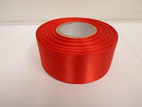 2 Meter x 50mm Satinband, Scharlach, hellrot, doppelseitig, Bevorzugungen, Dekorationen, Ostern, Weihnachten, Handwerk (Satinband Red Sided Double)