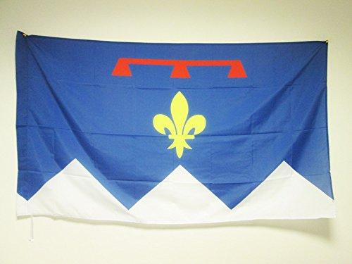 ALPES-DE-HAUTE-PROVENCE 90x60cm - ALPES-DE-HAUTE-PROVENCE FAHNE 60 x 90 cm scheide für Mast - flaggen AZ FLAG Top Qualität (Provence Fahne)