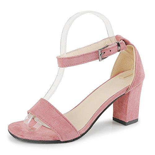 La version coréenne de chaussures de femmes minces/Une boucle sandales/Avec des chaussures talons chunky/sandales d'été polyvalent C