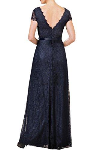 Milano Bride Damen Herrlich V-Ausschnitt Lang Spitze Abendkleider Festkleider Promkleider Partykleider mit Perlenstickerei Violett