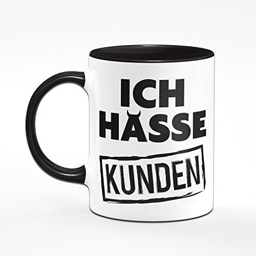 Tasse ICH HASSE KUNDEN - Kaffeetasse - Bürogeschenk - Callcenter - Kundenservice - schwierige Kunden - 2