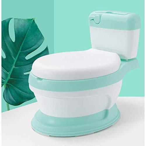 Baby toilette di colore verde per bambini, bambine, baby, baby, apprendimento con tappetino antiscivolo