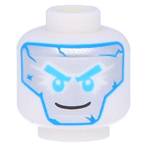 LEGO® Figuren, Kopf mit mittelblauer und silberner Maske