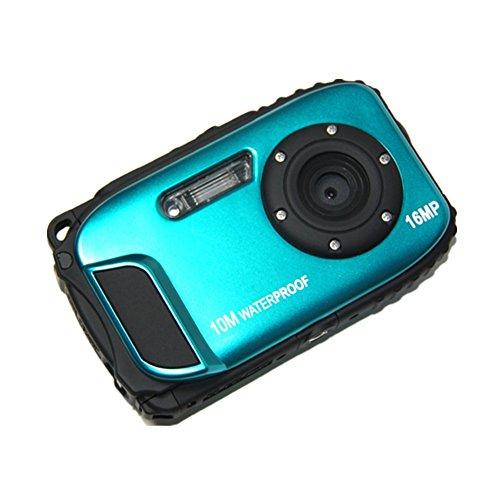 "PYRUS Kamera Wasserdichte Digital-Videokamera 2.7 ""TFT Bildschirm 5mp Unterwasser 9 Mega 8x Zoom Digitalkamera-Blau"