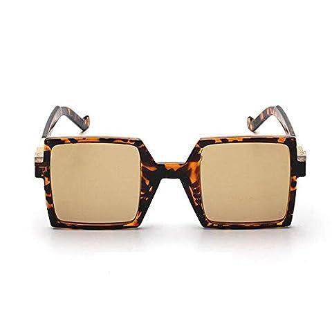 Z&YQ Sonnenbrille Square Frame Transparente Weibliche Fahrbrille Polarisierte Sonnenbrille , Tuhao Gold Tortoise