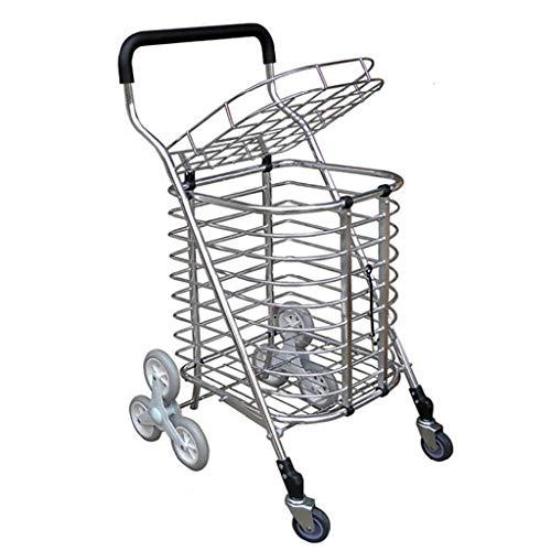 Einkaufswagen mit großer Kapazität, Die Treppe gestempelt, um einen Nahrungsmittel-LKW-Anhänger zu kaufen, der tragbaren Einkaufswagen-Supermarkt-Trolleys einen kleinen Wagen-Teller-Wagen faltet (Lkw-party-teller)