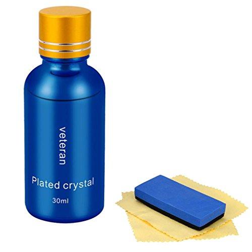 LCLrute Hohe Qualität Einzelflaschen-Beschichtungslösung 9H Härte Auto Flüssigkeramikbeschichtung Super Hydrophobe Glasbeschichtung Autopolitur (Blau)