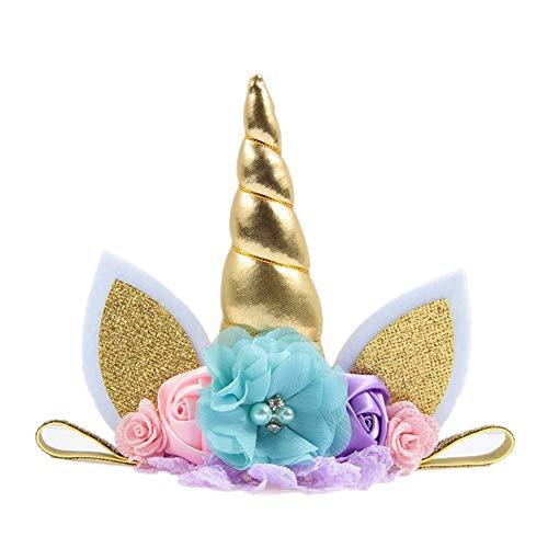 Gysad Diademas unicornio cumpleaños Divertido lindo
