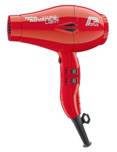 Parlux Advance Light - Secador de pelo ionico, Rojo