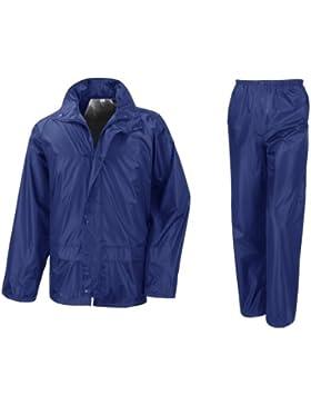 Result - Traje Impermeable /Conjunto Impermeable / chubasquero 2 piezas (conjunto chaqueta y pantalón) (Pequeña...