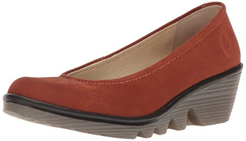 Fly London  Pump, Sandales Compensées  femme Marron (Brick/Black 074)