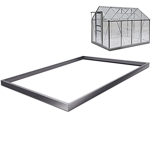 Foundation Base Greenhouse Polytunnel - Galvanized 250 x 190 Centimeter Base Fixation Floor Anchor Stable Sturdy Steel Frame Test