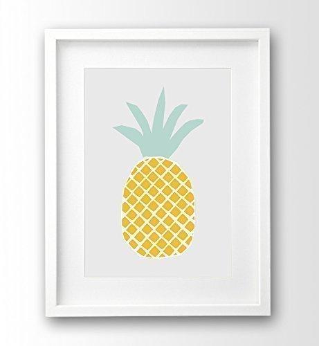 Küchenposter A4 ungerahmt, Ananas