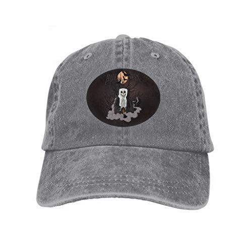 Unisex Baseball Cap Snapback Adult Cowboy Hat Hip Hop Trucker Hat Horror Nun Halloween Watercolor Gray