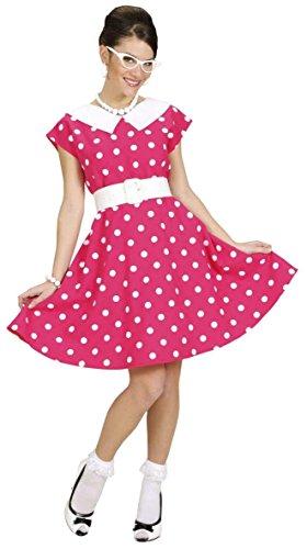 Widmann 58313 - 50er Jahre Kleid mit Petticoat in Pink Gröߟe L