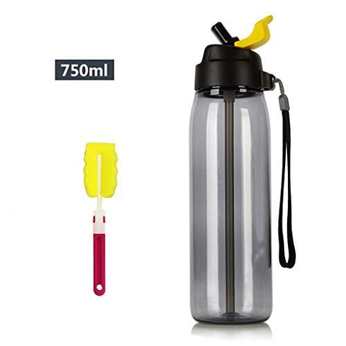 ahrungsmittelgrad Plastikbecher tragbare Wasserflasche Sportflasche auslaufsichere Tasse Wasserkocher im Freien | Stil 6 ()