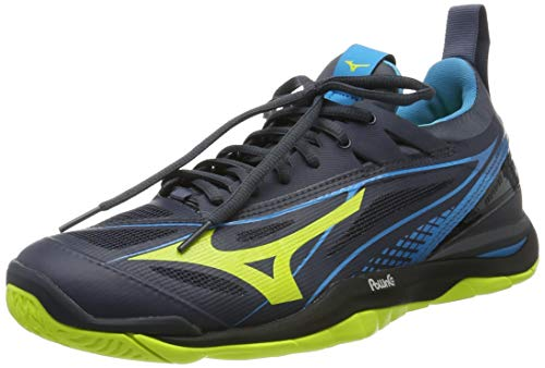 Mizuno Herren Wave Mirage 2.1 Sneakers, Mehrfarbig (O Blue/Syellow/Hawaiocean 001), 45 EU