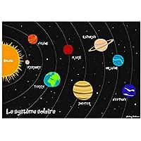 Mesa infantil, tema del sistema solar, laminado