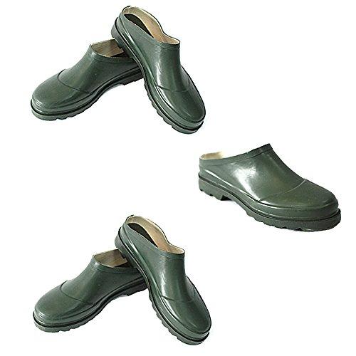 Brooklyn Unisex Gärten Schuhe in Grün mit Slip On Design - Wasserdicht - aus Kunststoff und Gummi - Größe 4