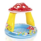 Baby's own pool with built-in mushroom sunshade with a soft inflatable floor allows for gentle play and comfort.Complete with protective mushroom sun shade the baby pool requires minimal assembly and is approximately 102 x 89cm when inflated....